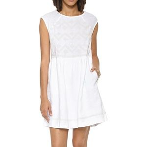 Madewell Linen Sandwave White Dress